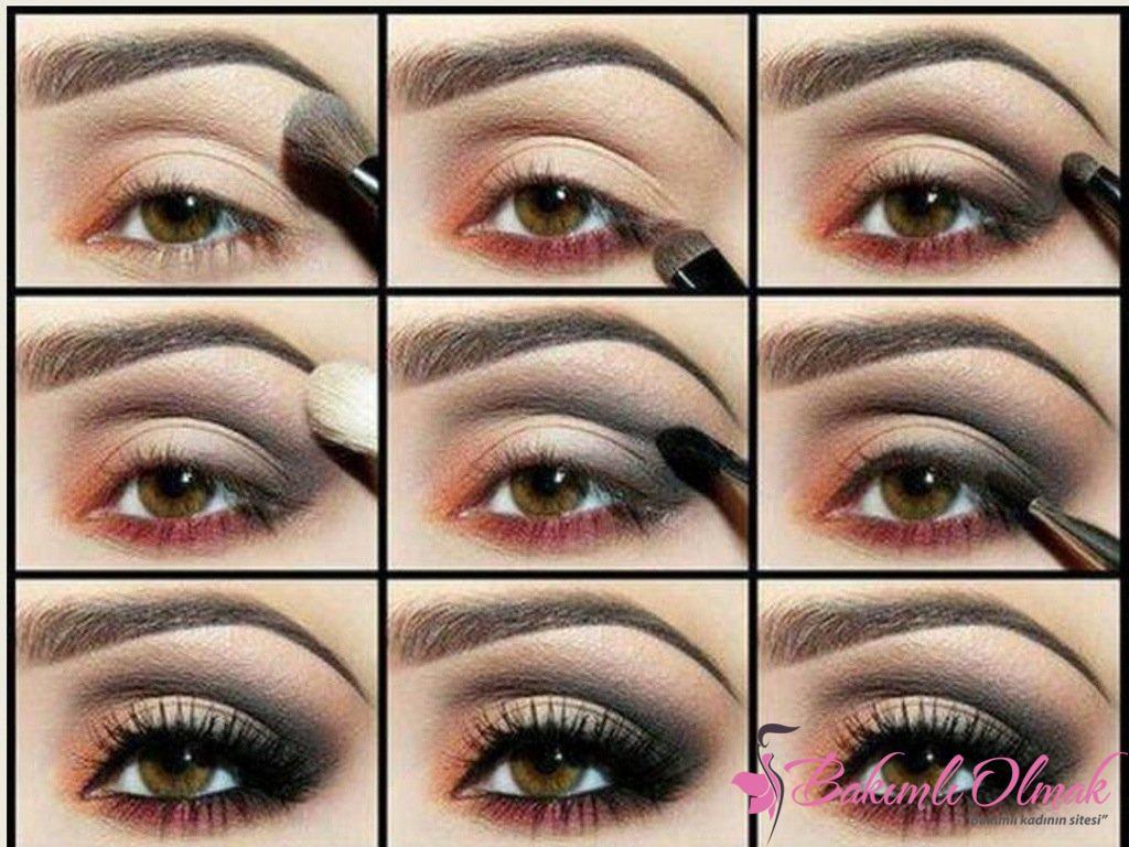 Как накрасить глаза тенями фото поэтапно для карих